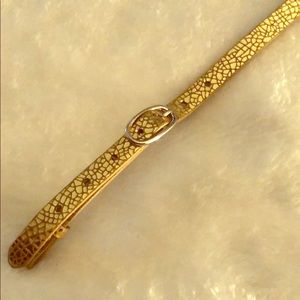 Authentic Origami Owl Gold Leather Bracelet
